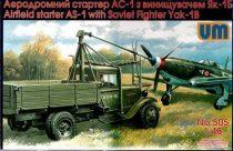 Unimodels Airfield starter AS-1with Soviet fighter makett