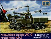 Unimodels Airfield starter AS-2 on GAZ-AAA makett