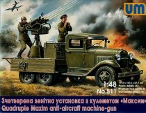 Unimodels Quadruple Maxim anti-aircaft machine-gun makett