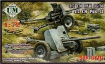 Unimodels Antitank guns 3.7cm PAK 35/36 and 4.2cm PAK 41 makett