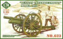 Unimodels Russian Trekhdyujmovka 3inch gun, 1902 makett