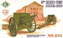 Unimodels 3inch field gun, model 1902 makett