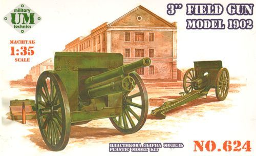 Unimodels 3inch field gun, model 1902 makett
