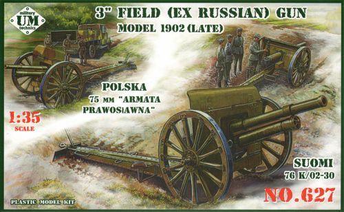Unimodels 3inch (ex Russian) field gun, 1902(late) makett