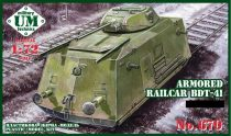 Unimodels Armored railcar BDT-41 makett
