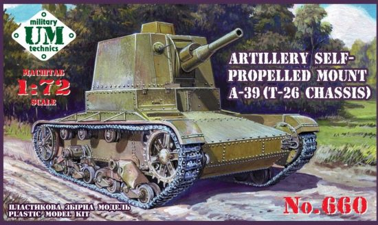 Unimodels A-39 (T-26 chassis) Soviet self-propelle makett