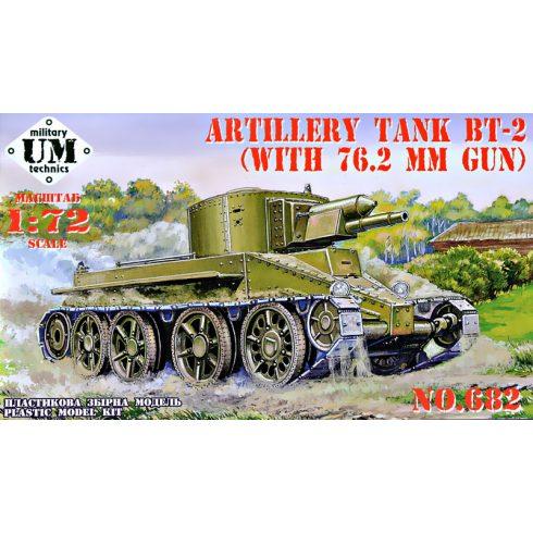 Unimodels BT-2 Artillery tank with 76.2 mm gun makett