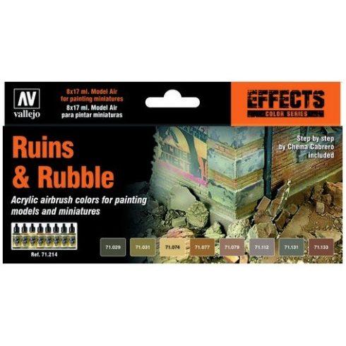 Vallejo Model Air Set Ruins & Rubble Set