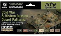 Vallejo Model Air Cold War & Modern Russian Desert Patterns Colors Set