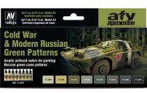 Vallejo Model Air Cold War & Modern Russian Green Patterns Colors Set