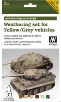 Vallejo Weathering Set for Yellow/Grey Vehicles