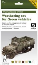 Vallejo Weathering Set for Green Vehicles