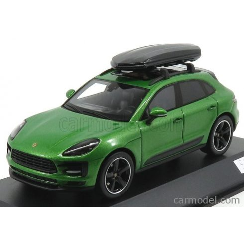 SPARK-MODEL PORSCHE MACAN S WITH ROOF BOX 2018