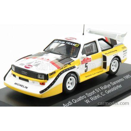 CMR AUDI QUATTRO SPORT E2 S1 N 5 WINNER RALLY SANREMO 1985 W.ROHRL - C.GEISTDORFER