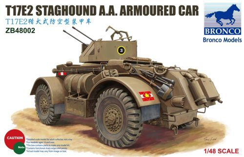 Bronco T17E2 Staghound A.A. makett