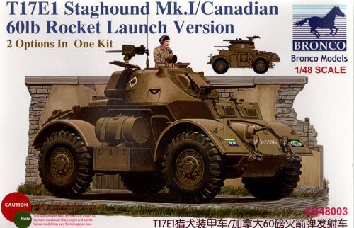 Bronco Staghound Mk.I Late Production with 60lb rocket makett